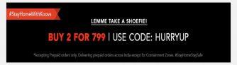 Koovs Loot: Buy Any 2 Footwears For Rs 799