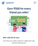 Upstox Loot : Get Rs. 500 Instant Per Refer