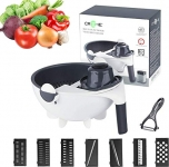 Croche, Premium 12 in 1 Mandoline Vegetable Cutter, High Grade Stainless Steel Blades, 2021 Upgraded Edition, Made in India