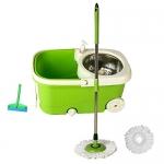 Fretol Steel Mop with Wheel+2 Refill+Rod+ Wiper – Green