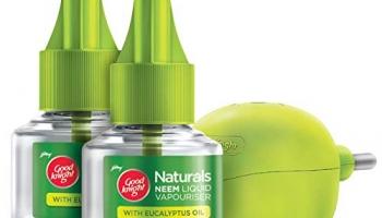 Goodknight Naturals, Machine + 2 Refills – Neem Mosquito Repellent with 100% Natural Active Ingredients Combo Pack